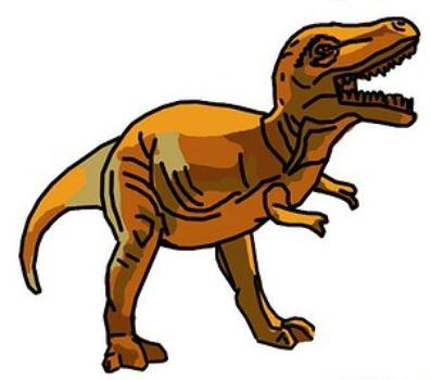猫背で手が前になった、恐竜みたいな私の姿(イメージ)