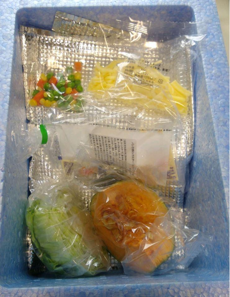 ヨシケイプチママ月曜食材梱包写真