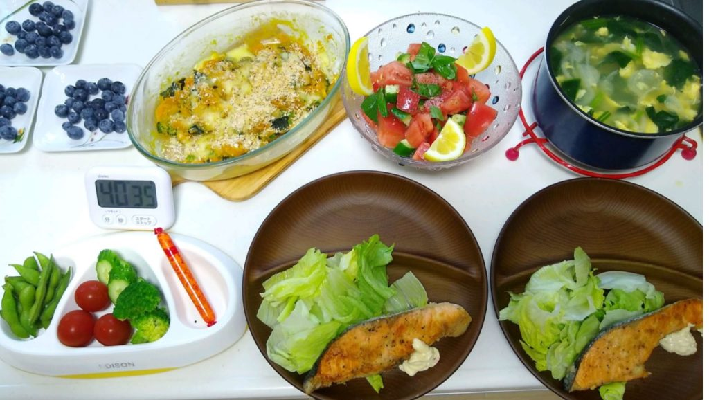 ヨシケイプチママ月曜調理後写真