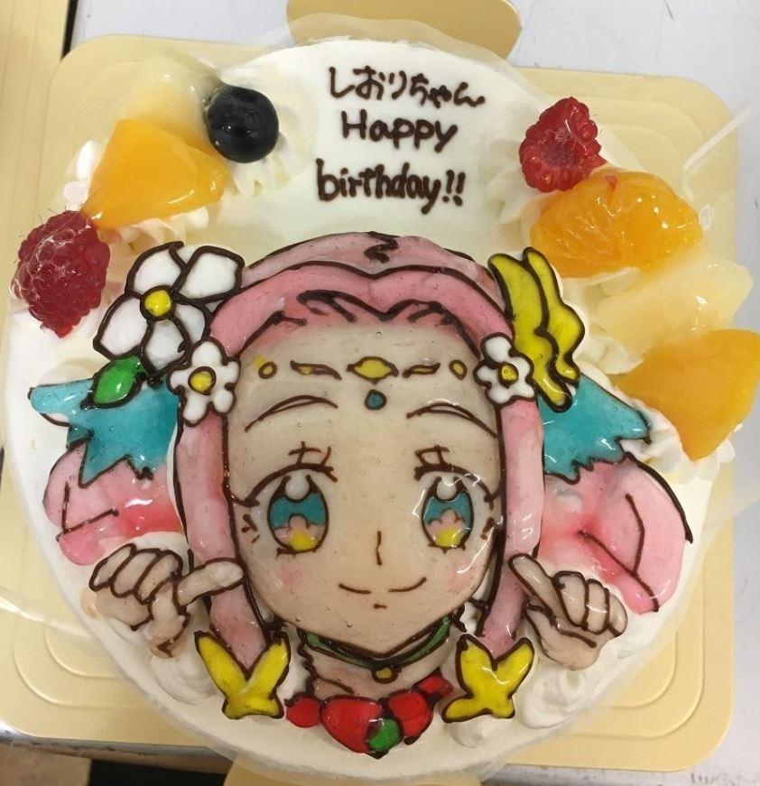 誕生日ケーキ__キャラクター_菓子夢