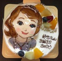 クリスマスケーキ_ディズニープリンセス_ギフトモール菓子夢