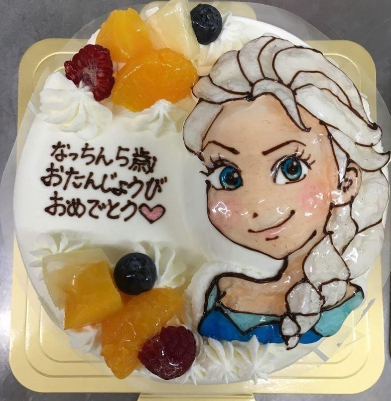 誕生日ケーキ_アナ雪2
