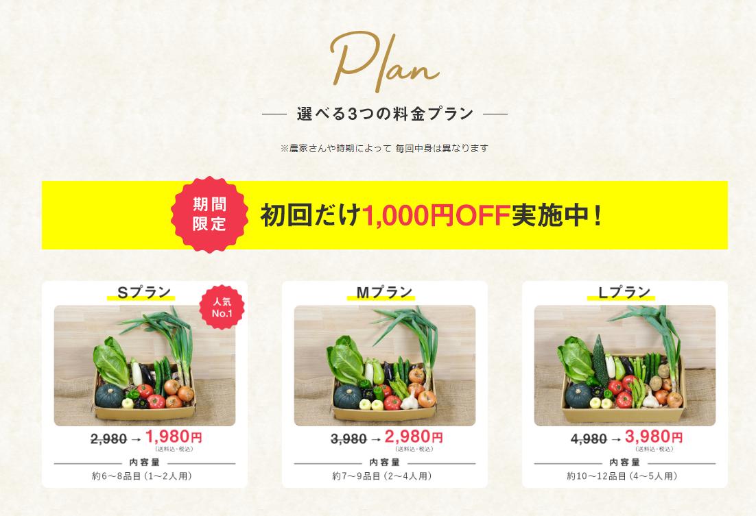 食べチョクコンシェルジュ 今なら初回限定1000円オフのキャンペーン実施中