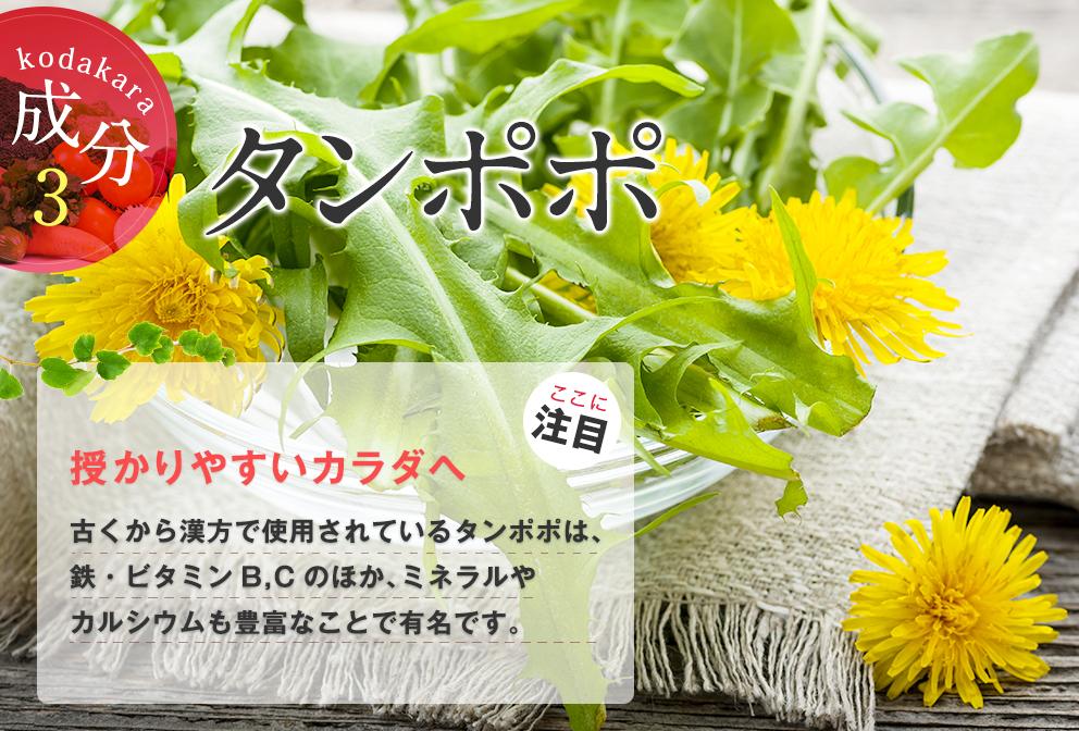 「kodakara(コダカラ)」には妊活にぴったりの成分が盛りだくさん