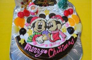「おぐに」ミッキー&ミニーのクリスマスケーキ
