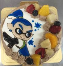 「カトルセゾン菓子夢」のスプラトゥーンケーキ