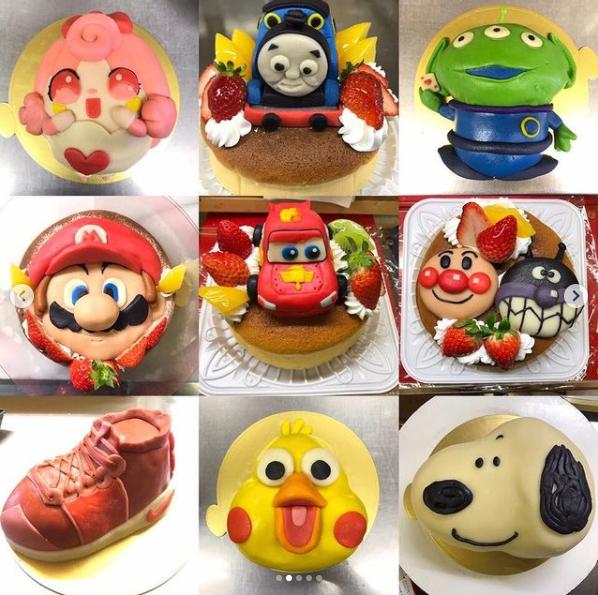 お菓子のグランパのキャラクターケーキ_チーズケーキ